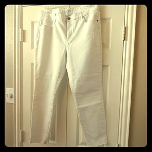NWT Loft Modern Fresh Cut Skinny White Jeans